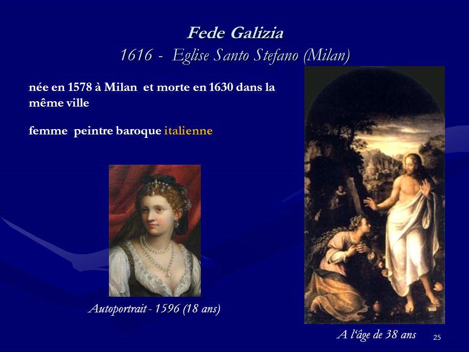 Fede Galizia 1616 - Eglise Santo Stefano (Milan)
