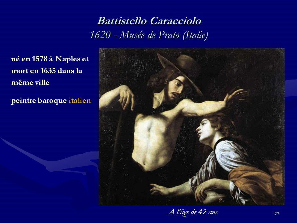 Battistello Caracciolo 1620 - Musée de Prato (Italie)