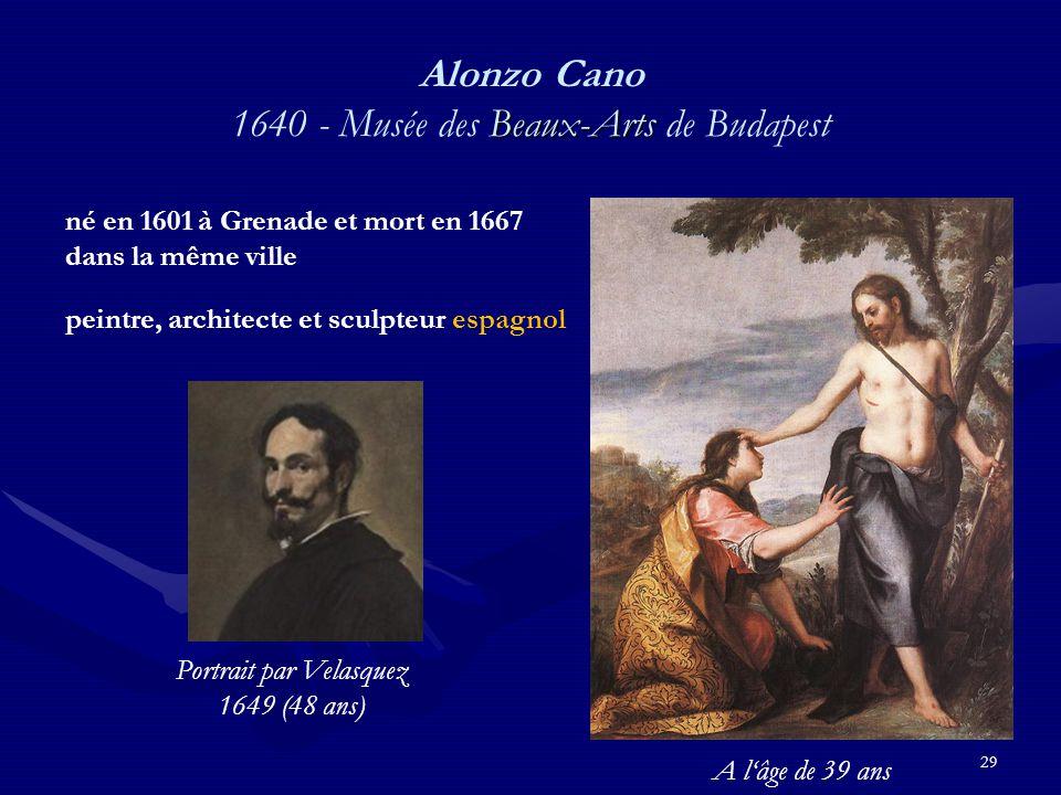Alonzo Cano 1640 - Musée des Beaux-Arts de Budapest