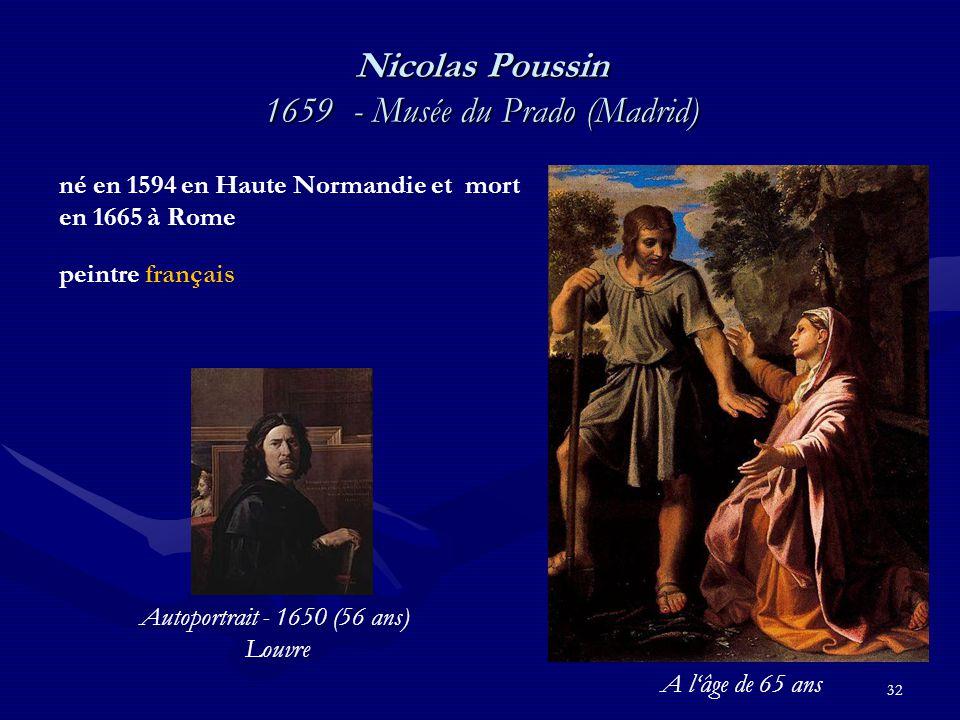Nicolas Poussin 1659 - Musée du Prado (Madrid)