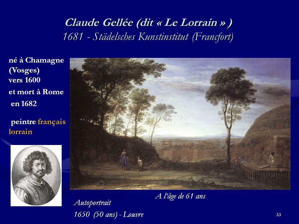 Claude Gellée (dit « Le Lorrain » ) 1681 - Städelsches Kunstinstitut (Francfort)