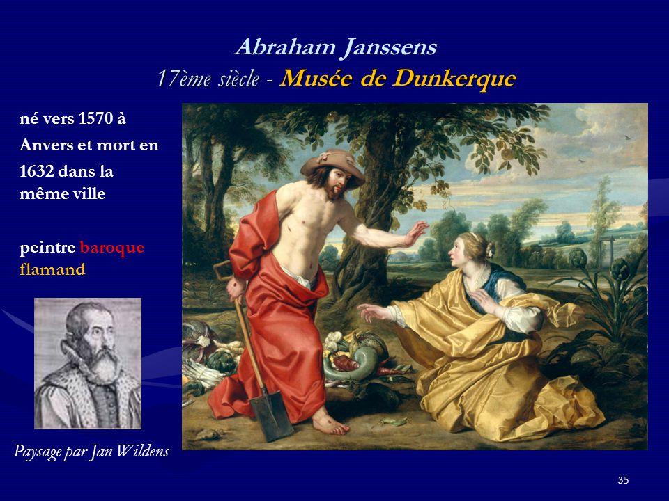 Abraham Janssens 17ème siècle - Musée de Dunkerque