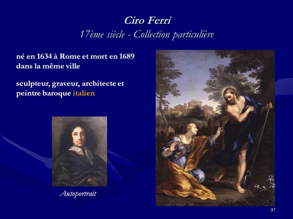 Ciro Ferri 17ème siècle - Collection particulière