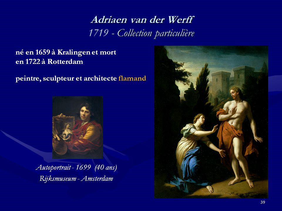 Adriaen van der Werff 1719 - Collection particulière