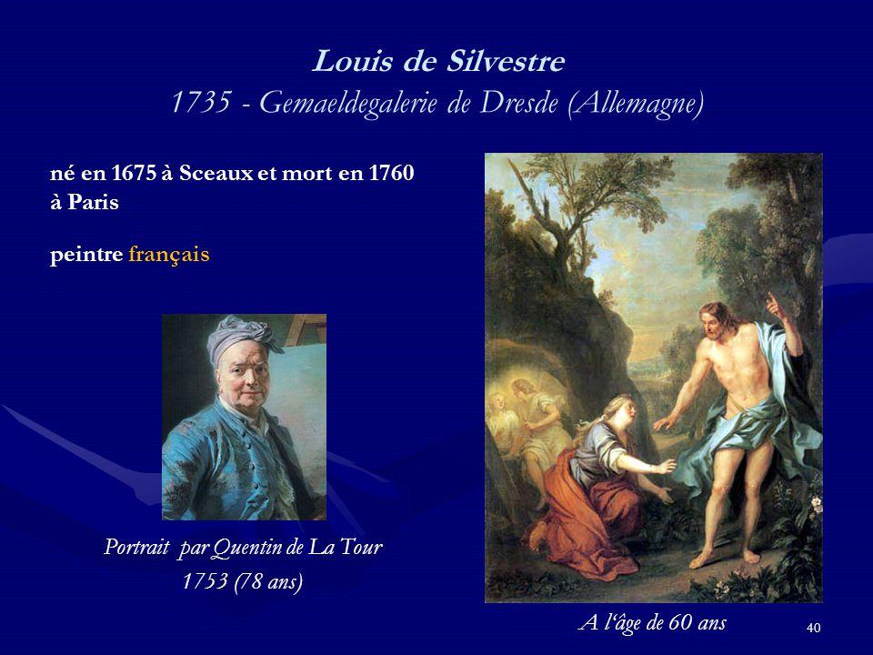 Louis de Silvestre 1735 - Gemaeldegalerie de Dresde (Allemagne)