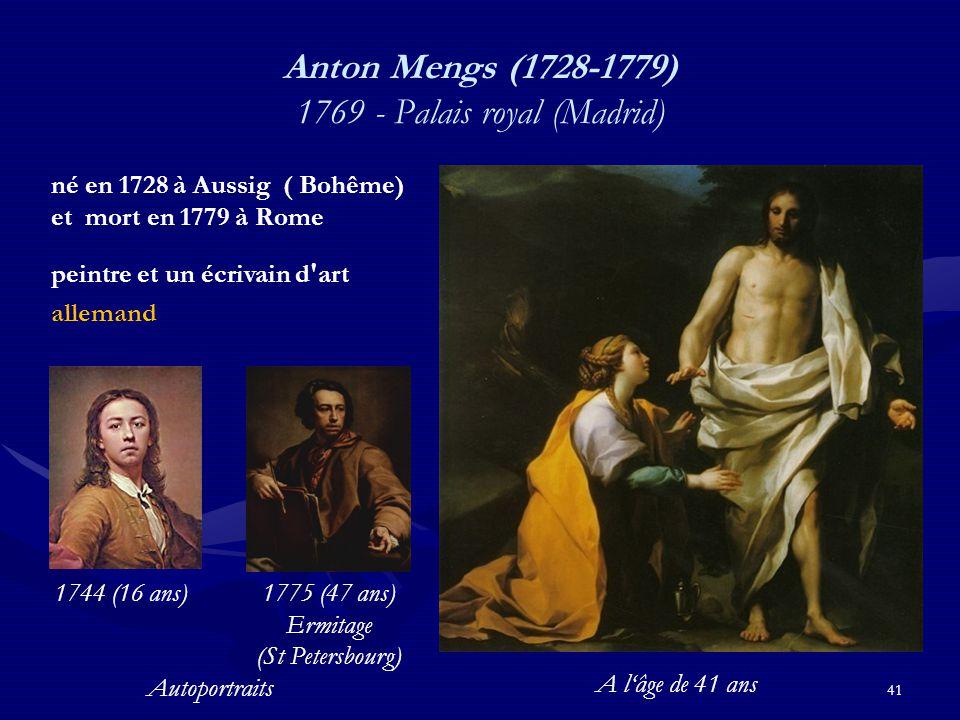 Anton Mengs (1728-1779) 1769 - Palais royal (Madrid)
