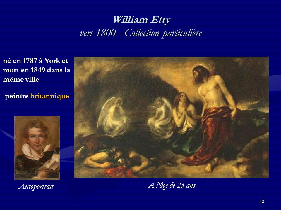 William Etty vers 1800 - Collection particulière
