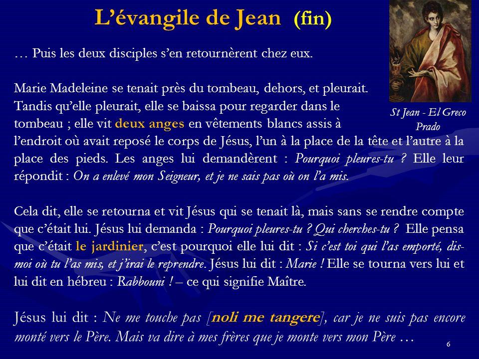 L'évangile de Jean (fin)