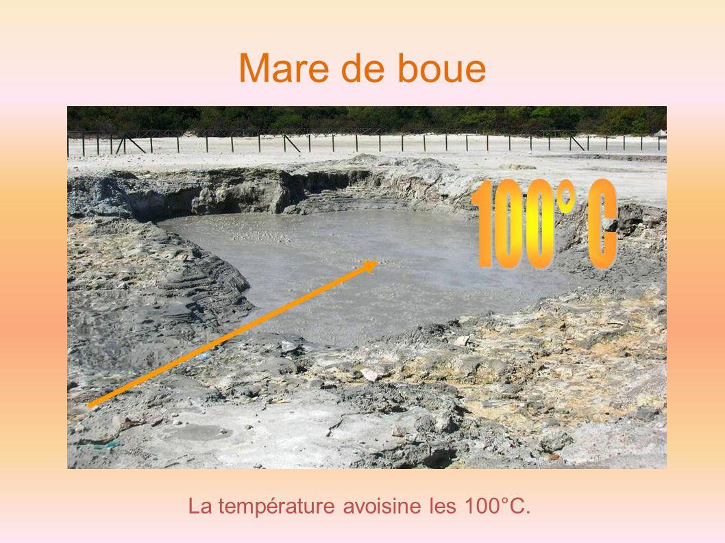 La température avoisine les 100°C.