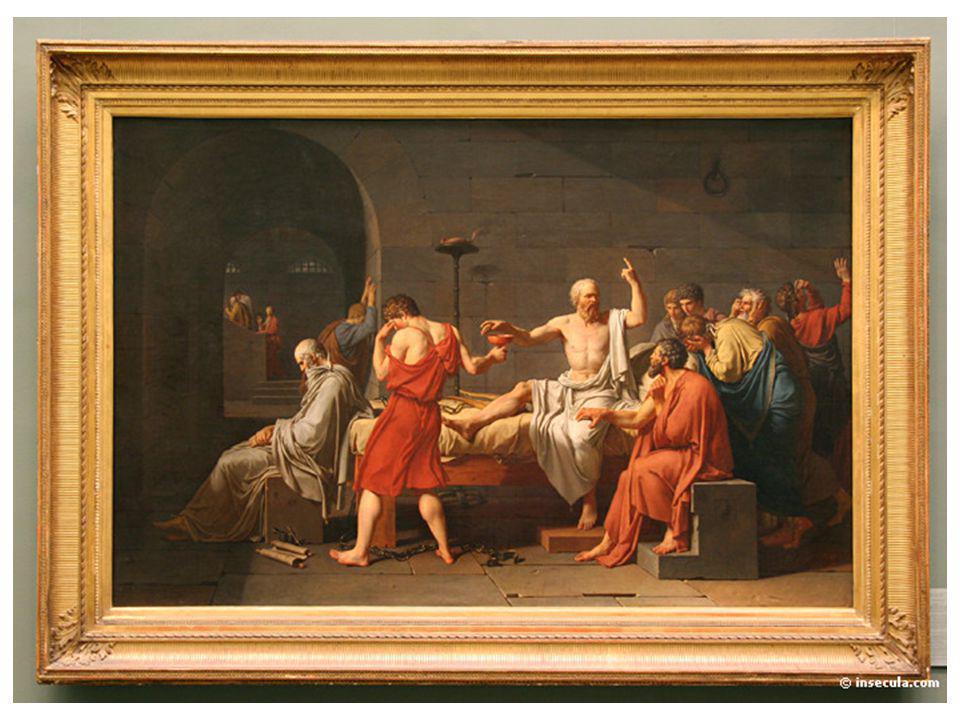 Tableau de david Socrate se donnant la mort en buvant la cigue Il y a 2400 ans