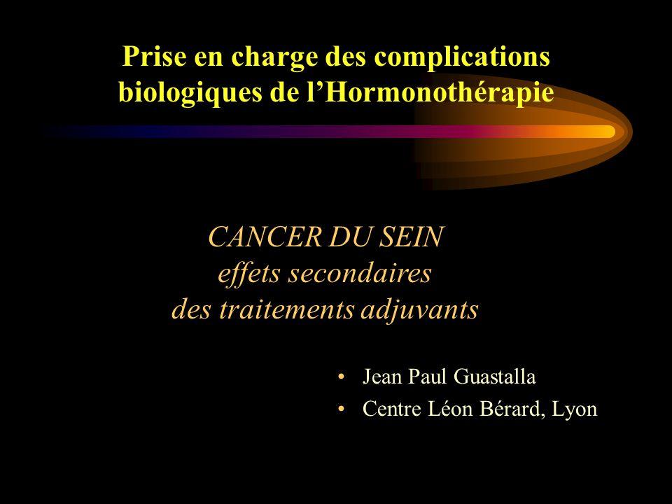 Prise en charge des complications biologiques de l'Hormonothérapie