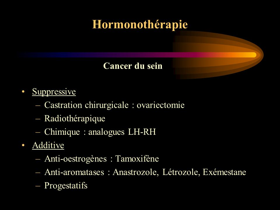 Hormonothérapie Cancer du sein Suppressive