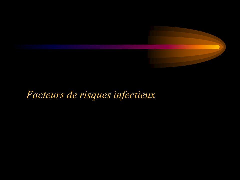 Facteurs de risques infectieux