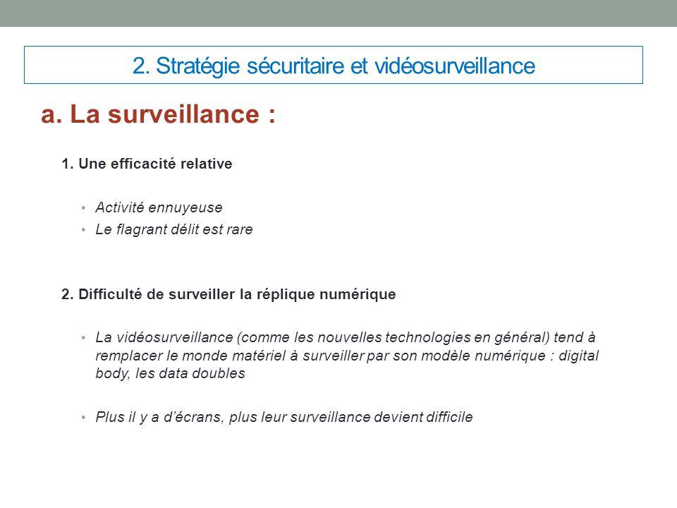 2. Stratégie sécuritaire et vidéosurveillance
