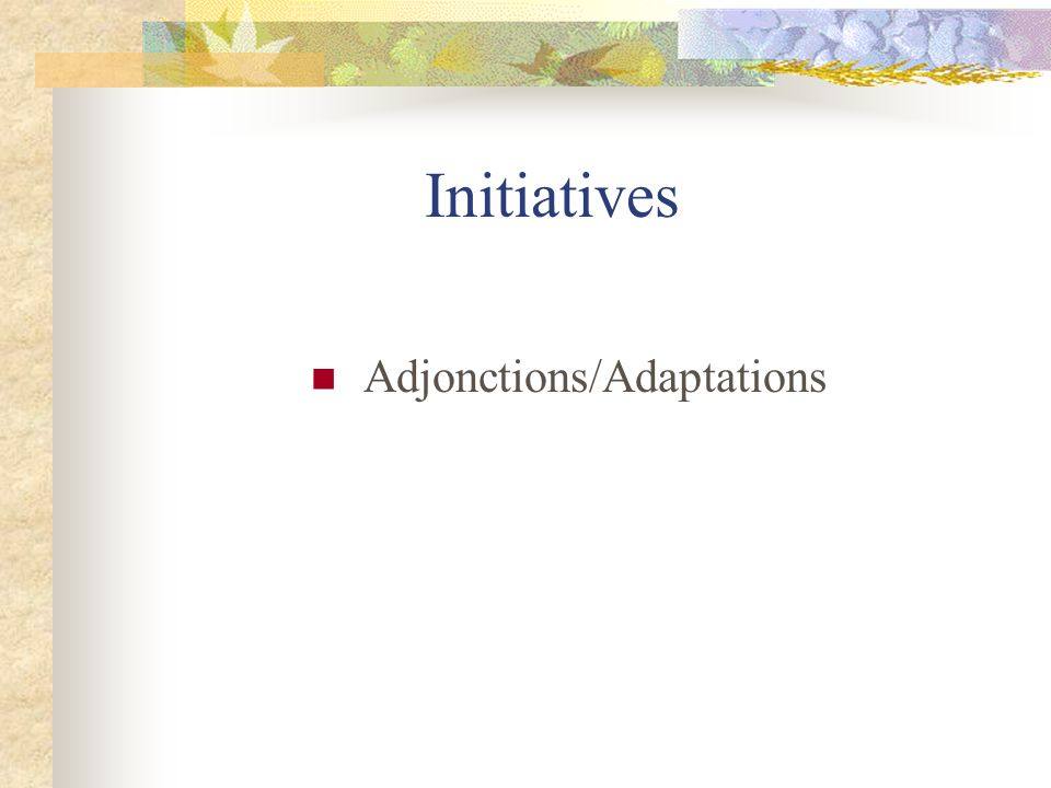 Adjonctions/Adaptations