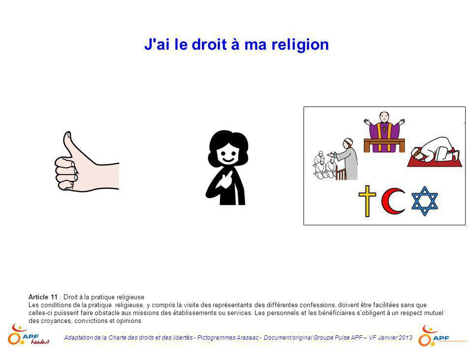 J ai le droit à ma religion
