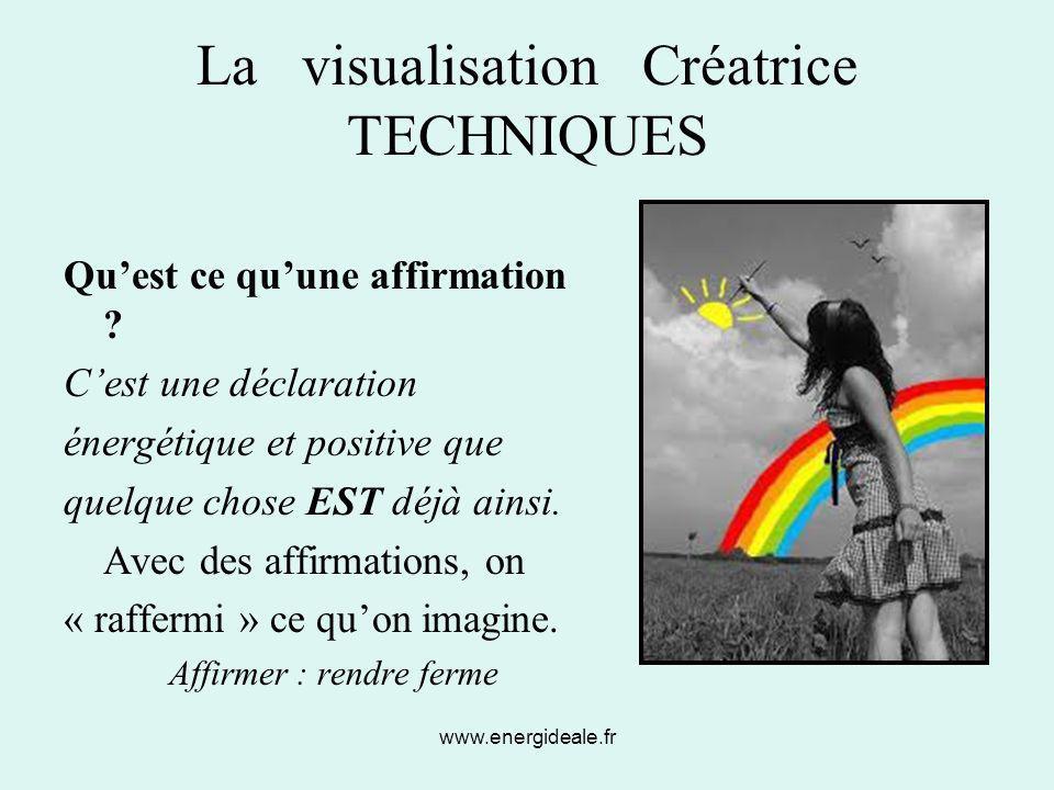 La visualisation Créatrice TECHNIQUES