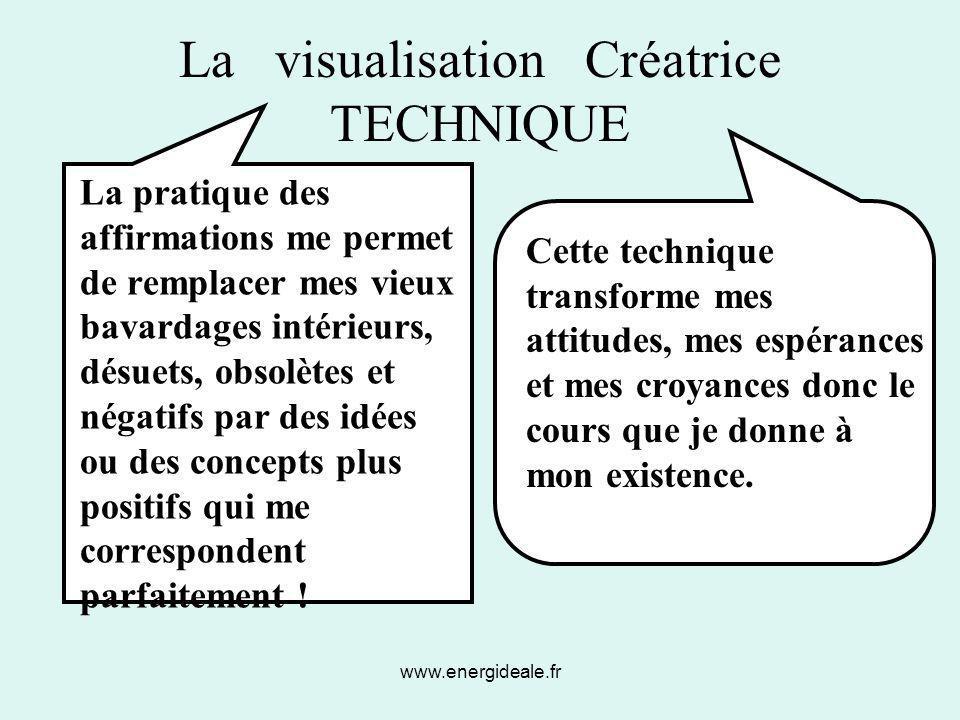 La visualisation Créatrice TECHNIQUE