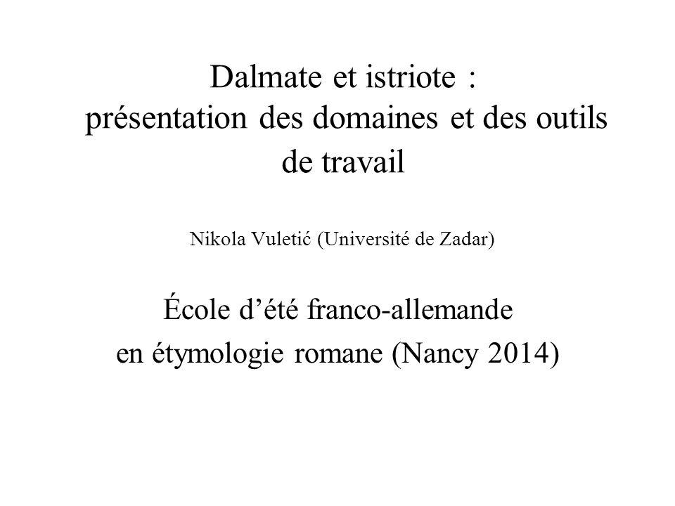 École d'été franco-allemande en étymologie romane (Nancy 2014)