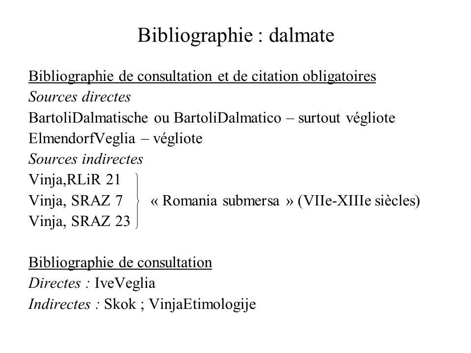 Bibliographie : dalmate