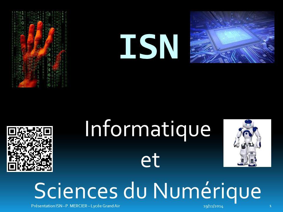 ISN Informatique et Sciences du Numérique