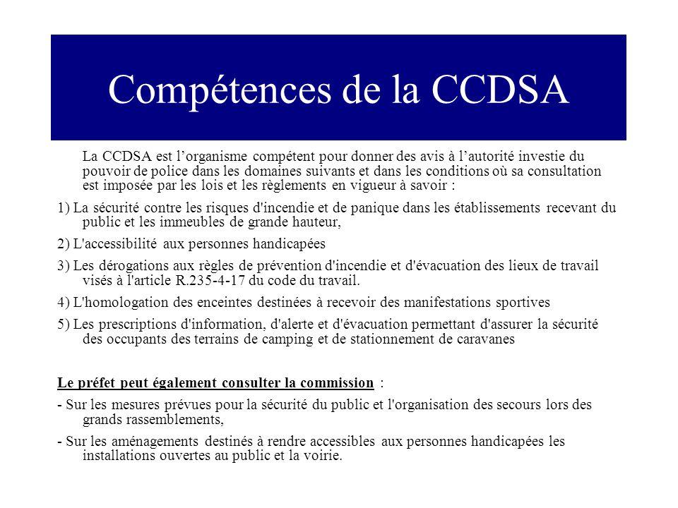 Compétences de la CCDSA