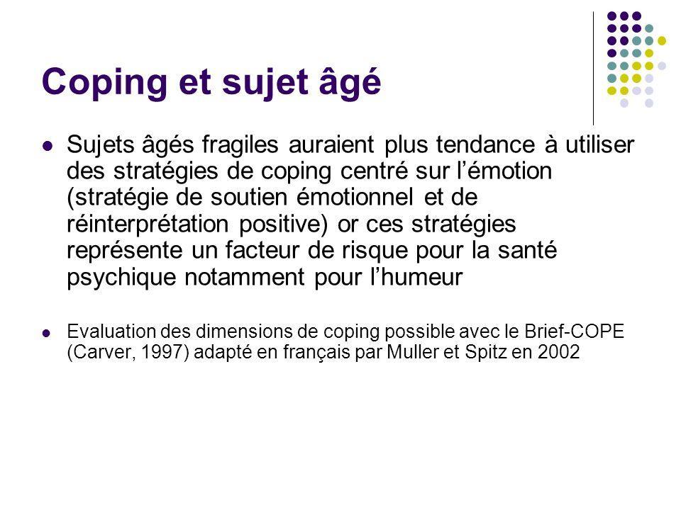 Coping et sujet âgé