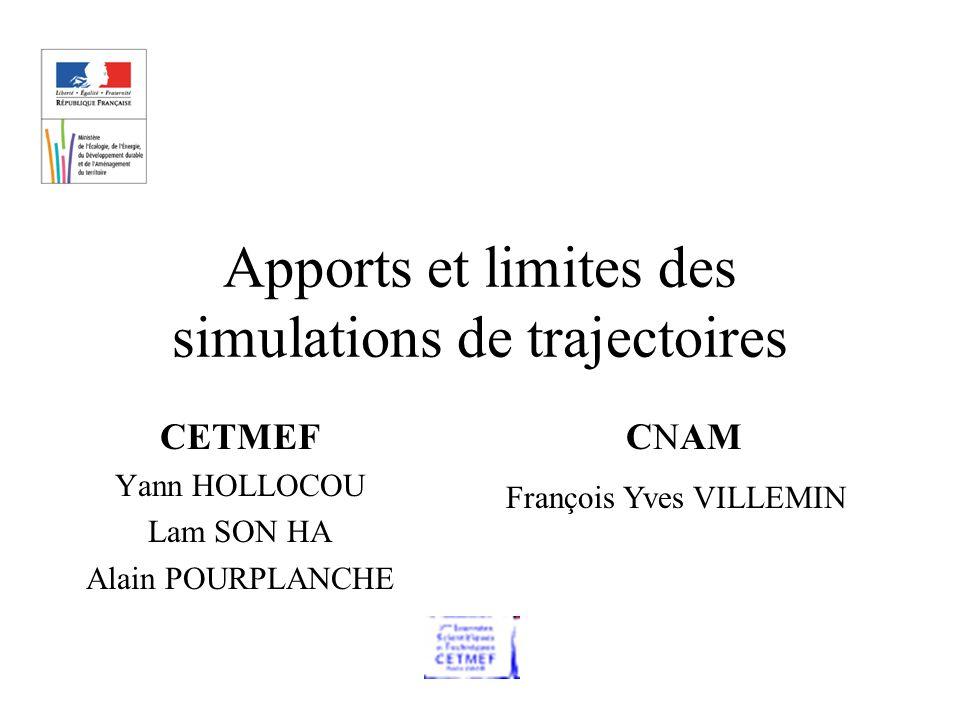 Apports et limites des simulations de trajectoires