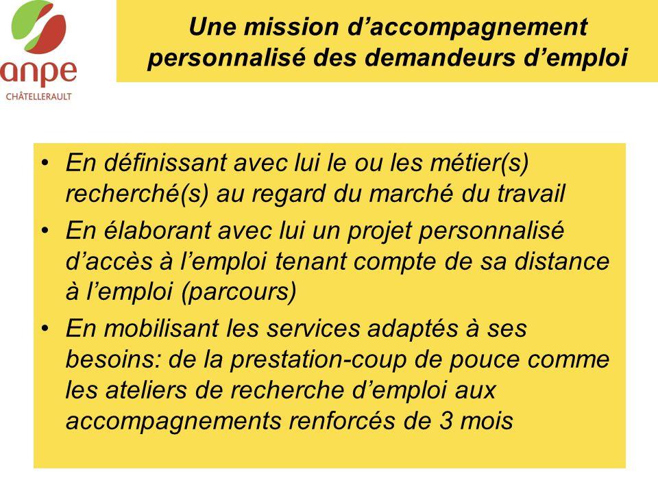 Une mission d'accompagnement personnalisé des demandeurs d'emploi