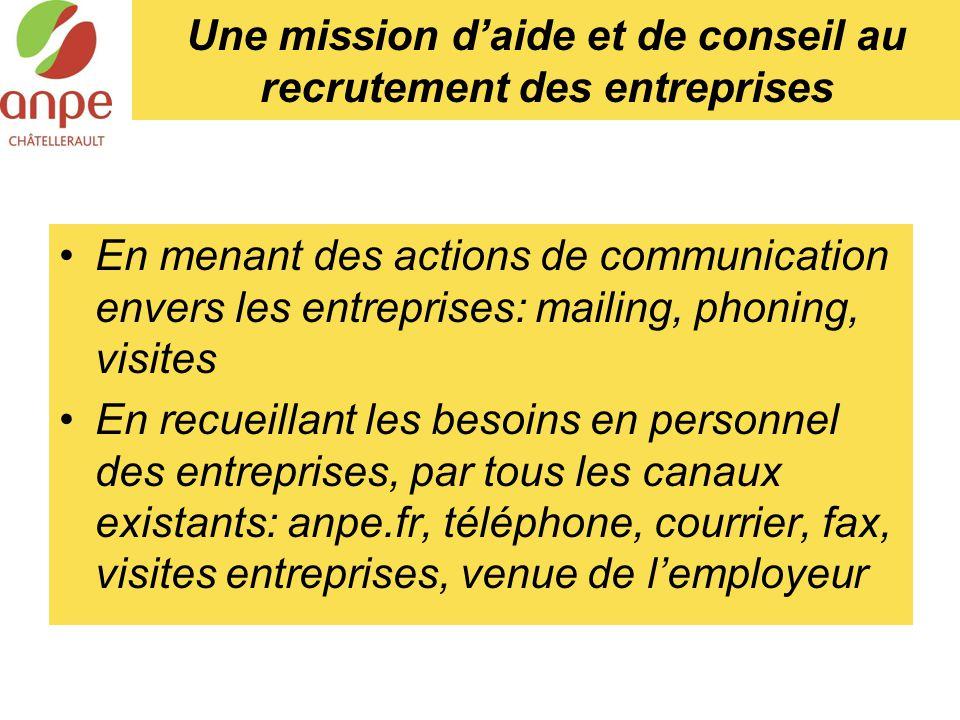 Une mission d'aide et de conseil au recrutement des entreprises