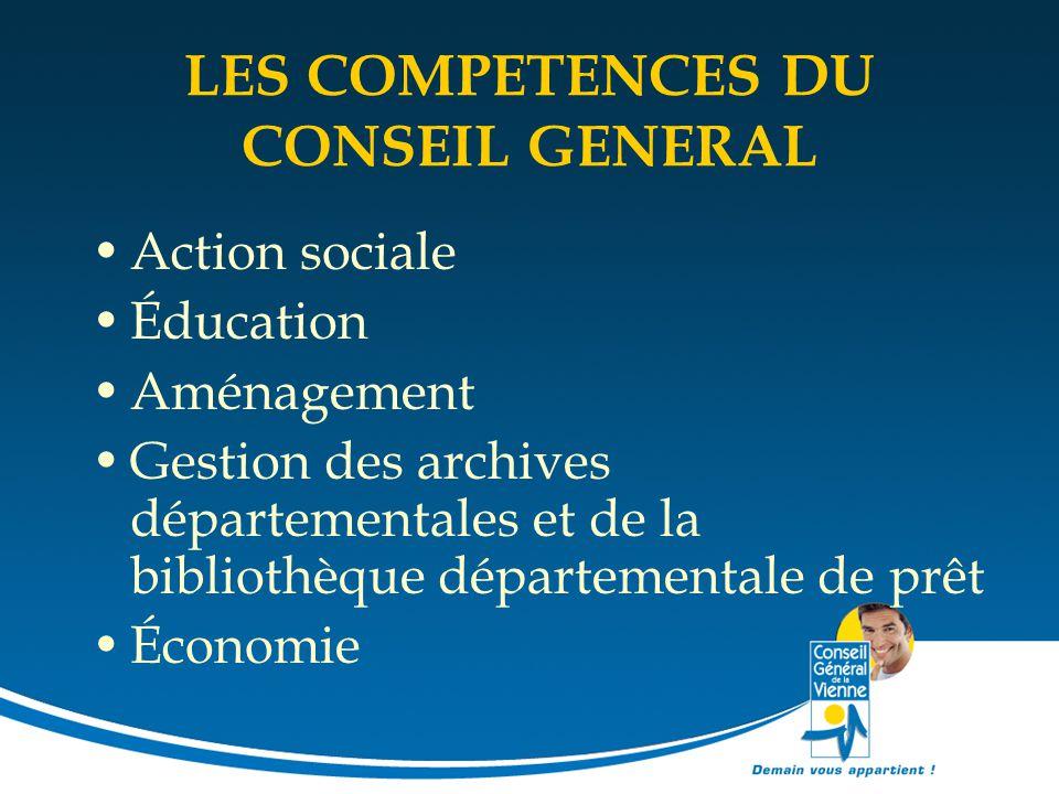 LES COMPETENCES DU CONSEIL GENERAL