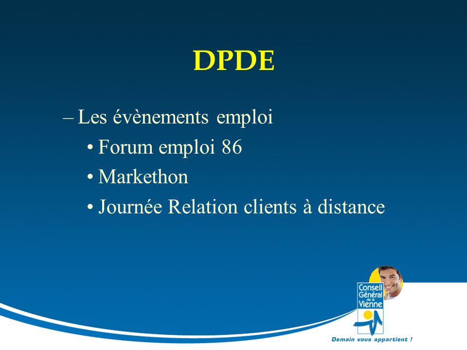 DPDE Les évènements emploi Forum emploi 86 Markethon