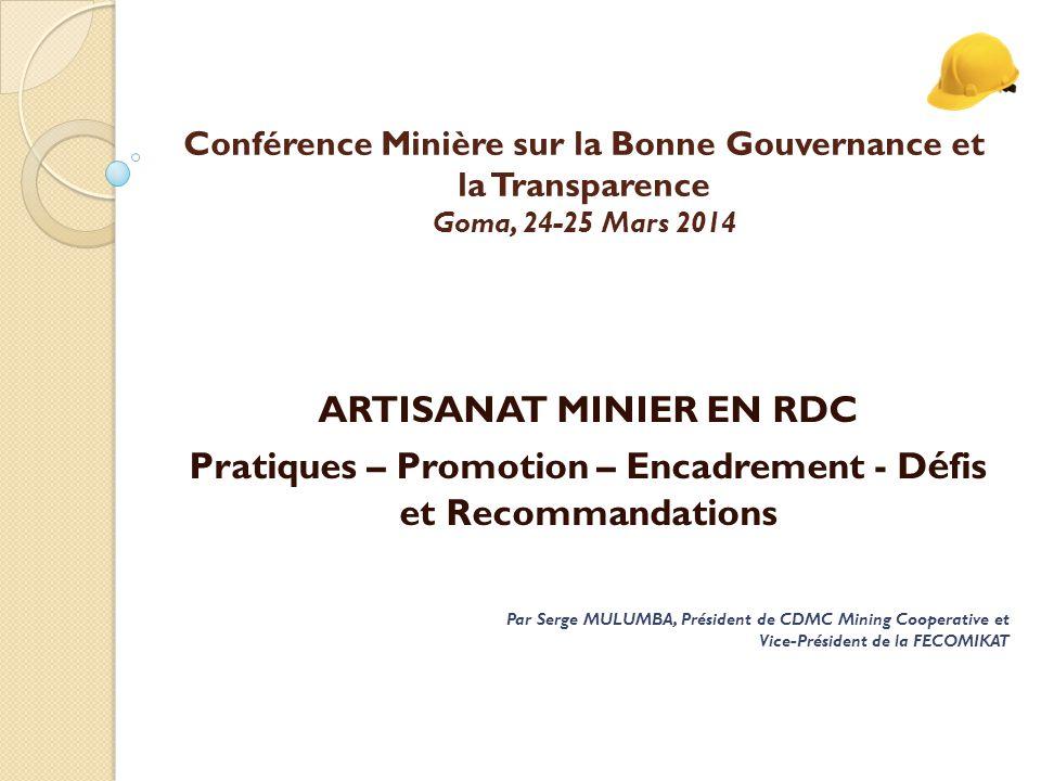 ARTISANAT MINIER EN RDC