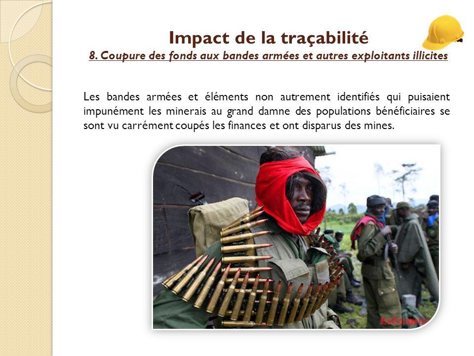 Impact de la traçabilité 8