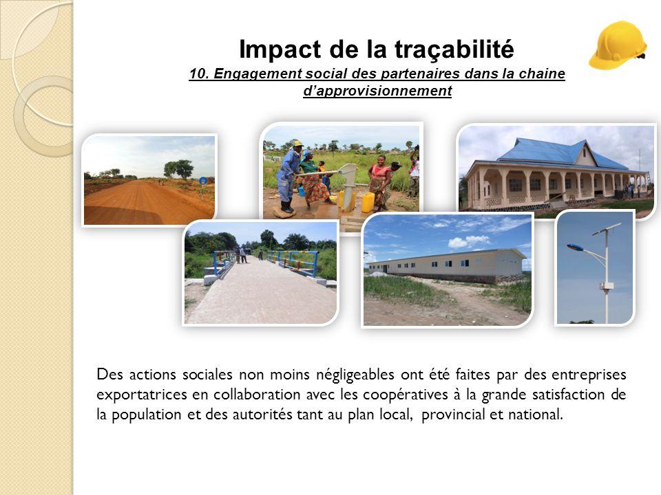 Impact de la traçabilité 10