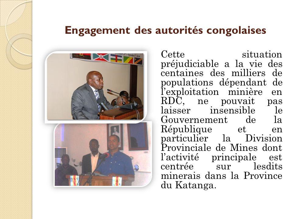 Engagement des autorités congolaises