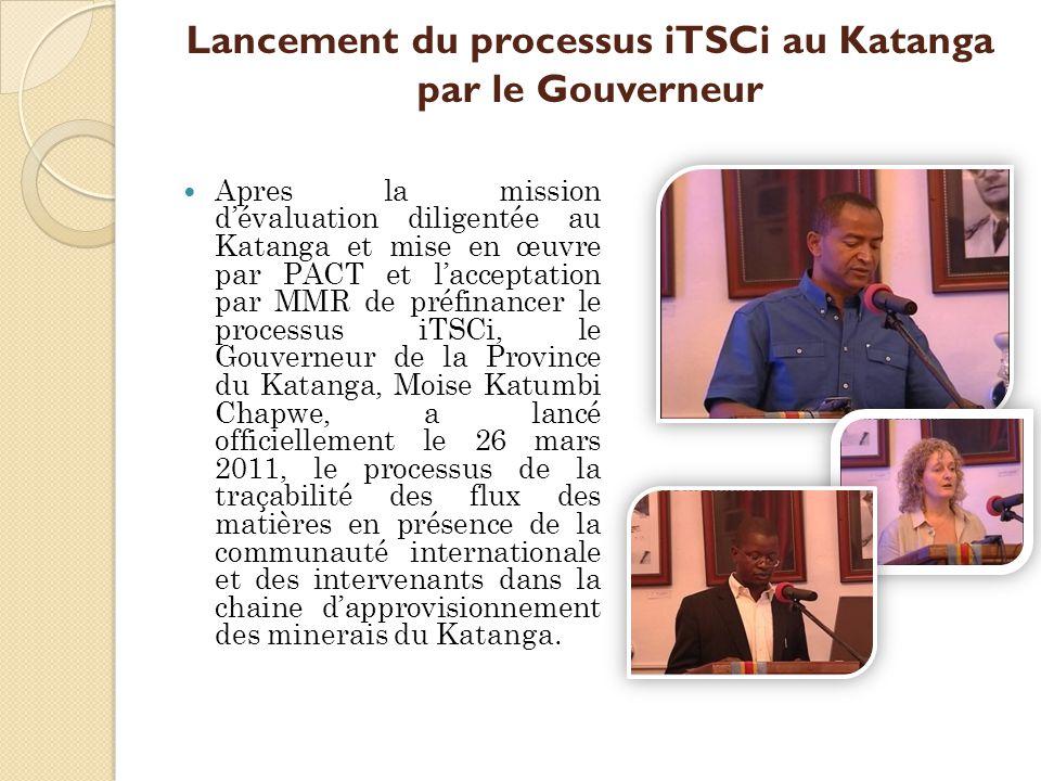 Lancement du processus iTSCi au Katanga par le Gouverneur