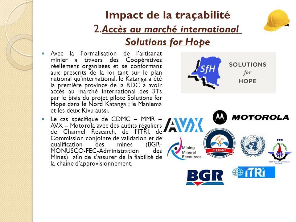 Impact de la traçabilité 2