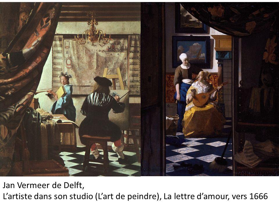 Jan Vermeer de Delft, L'artiste dans son studio (L'art de peindre), La lettre d'amour, vers 1666