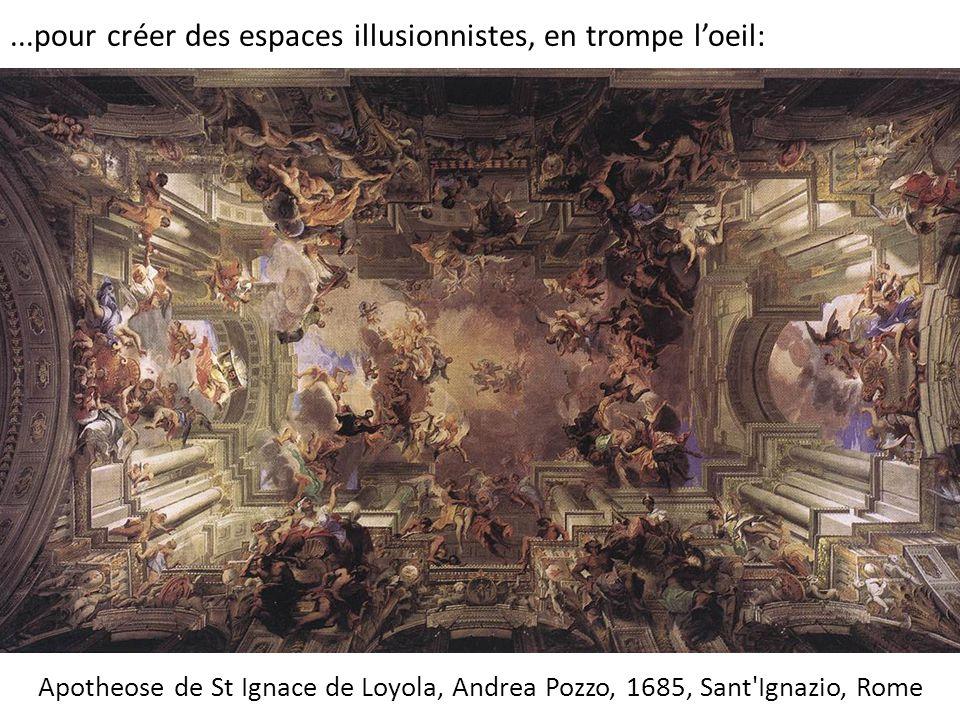 ...pour créer des espaces illusionnistes, en trompe l'oeil: