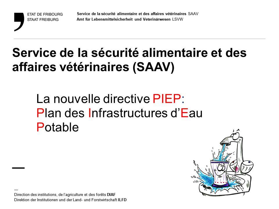 La nouvelle directive PIEP: Plan des Infrastructures d'Eau Potable