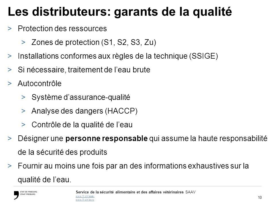 Les distributeurs: garants de la qualité