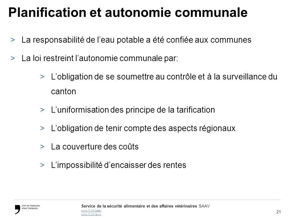 Planification et autonomie communale