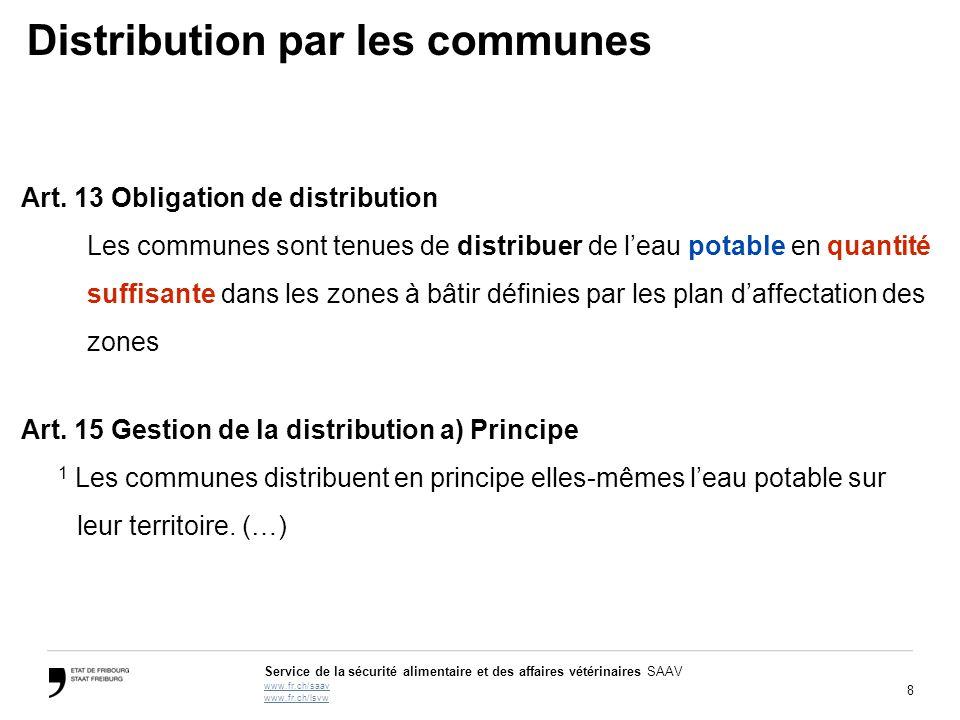 Distribution par les communes