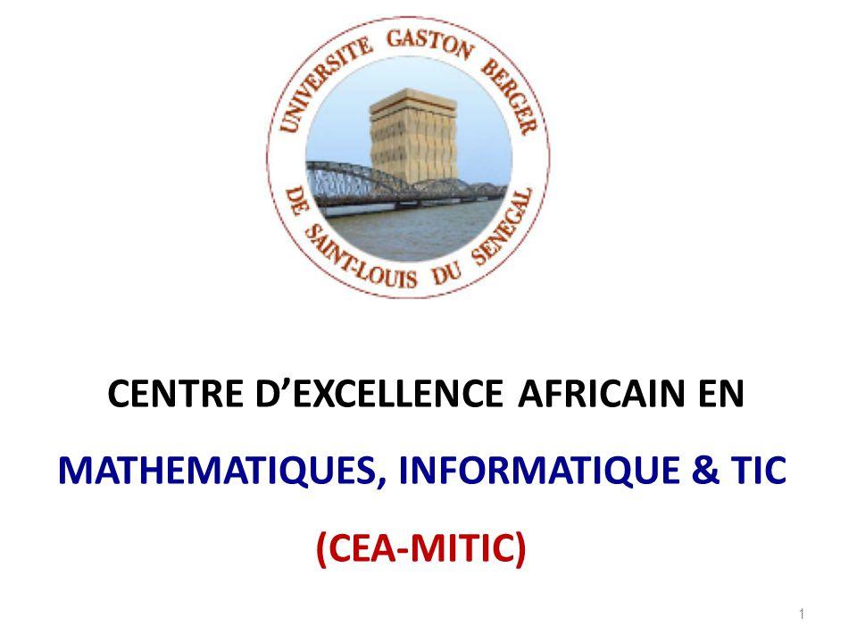 CENTRE D'EXCELLENCE AFRICAIN EN MATHEMATIQUES, INFORMATIQUE & TIC (CEA-MITIC)