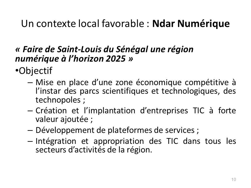 Un contexte local favorable : Ndar Numérique
