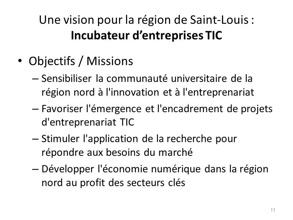 Une vision pour la région de Saint-Louis : Incubateur d'entreprises TIC