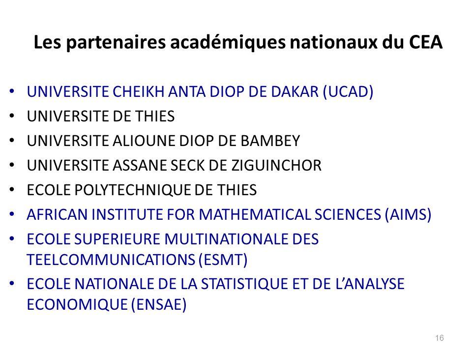 Les partenaires académiques nationaux du CEA