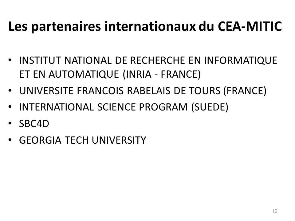 Les partenaires internationaux du CEA-MITIC