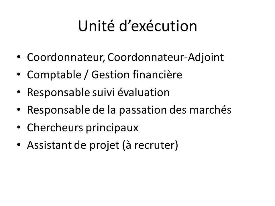 Unité d'exécution Coordonnateur, Coordonnateur-Adjoint
